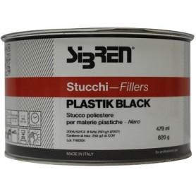 Stucco poliestere Plastik Black  per paraurti con catalizzatore ml.500
