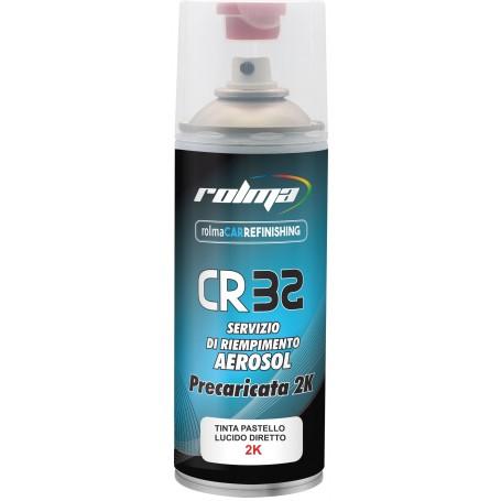Bomboletta spray 2K Smalto lucido diretto Piaggio 715 BIANCOSPINO  acrilico HS  ml.400
