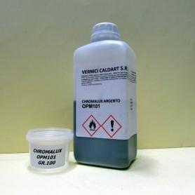 Vernice base opaca ad effetto cromatura CHROMALUX ARGENTO OPM101 GR.100