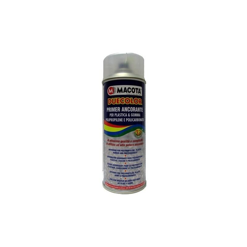 Bomboletta spray Macota Duecolor Primer ancorante Trasparente per plastica e gomma ml. 400 02094