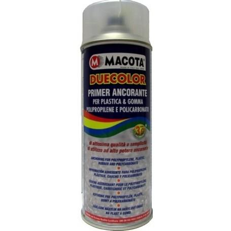Bomboletta spray Macota Duecolor Primer ancorante Trasparente per plastica e gomma ml. 400