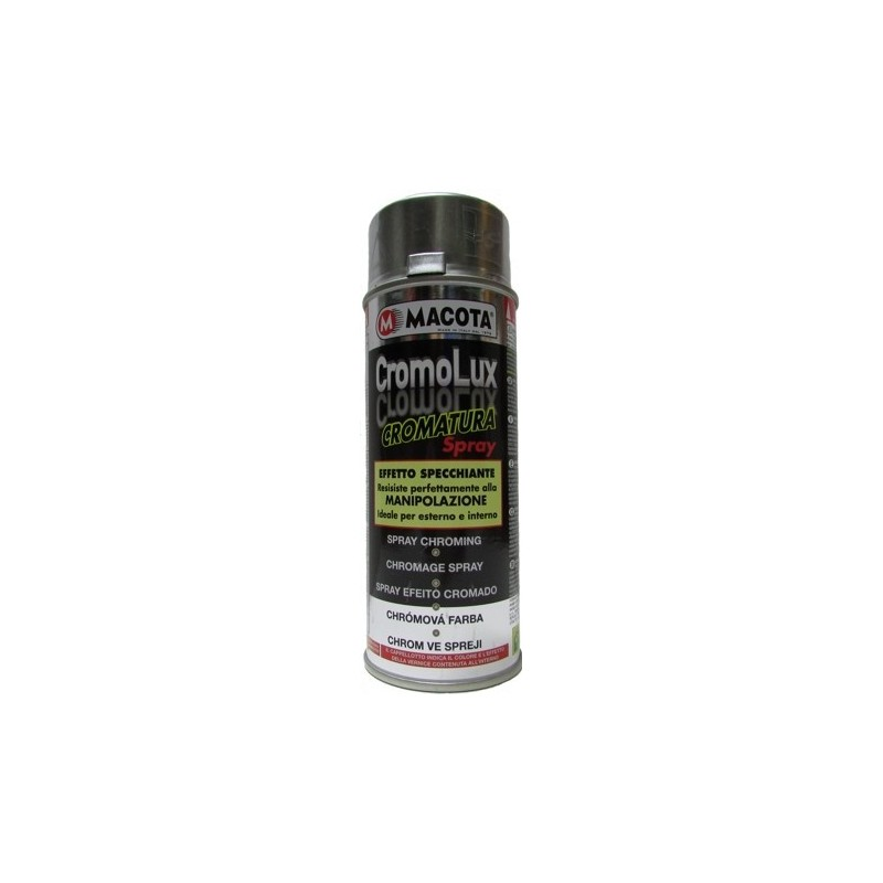 Bomboletta spray Macota Cromolux smalto per cromature ml. 400