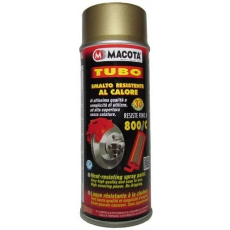 Bomboletta spray Macota Tubo vernice alta temperatura ORO  ml. 400 8608