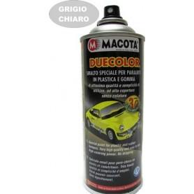 Bomboletta spray Macota Duecolor smalto speciale per paraurti in plastica e gomma Grigio chiaro ml. 400