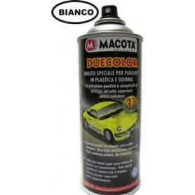 Bomboletta spray Macota Duecolor smalto speciale per paraurti in plastica e gomma Antracite ml. 400