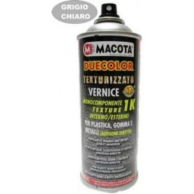 Bomboletta spray Macota Duecolor smalto speciale per paraurti in plastica e gomma Nero testurizzato ml. 400