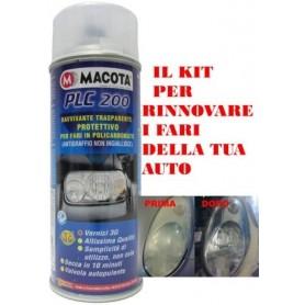Bomboletta spray Macota PLC 200 trasparente per fari in policarbonato ml. 400