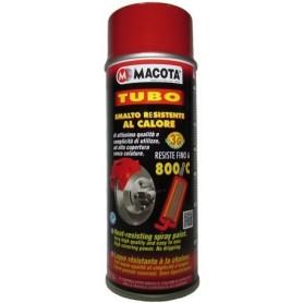 Bomboletta spray Macota Tubo vernice alta temperatura Rosso ml. 400