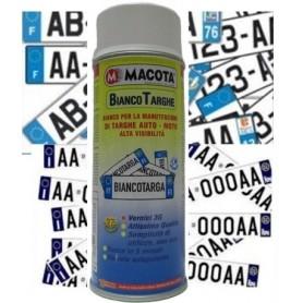 Bomboletta spray Macota Bianco Targhe per targhe auto e moto ml. 400