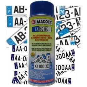 Bomboletta spray Macota BLU Targhe per targhe auto e moto ml. 400