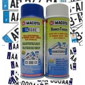 KIT Bombolette spray per  Targhe bianco e blu  ml. 400