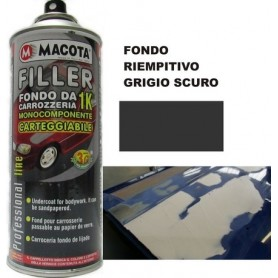 Bomboletta spray Macota Filler fondo da carrozzeria carteggiabile ml. 400