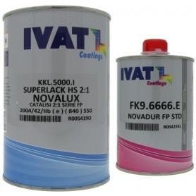Vernice trasparente HS Ivat Novalux antigraffio + Catalizzatore Ivat FK9.6666.E standard lt. 1