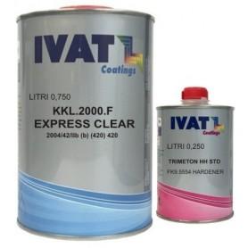 Vernice kkl 2000  trasparente ad essiccazione veloce ml.750+250