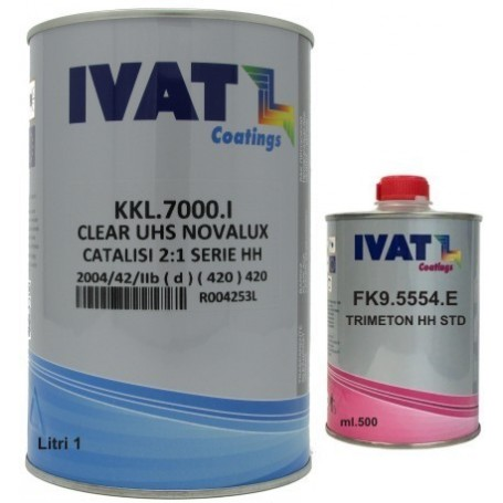 Vernice trasparente KKL.7000 CLEAR UHS NOVALUX lt.1 con catalizzatore ml.500