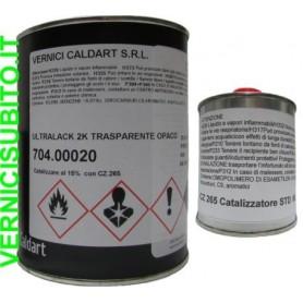 Vernice trasparente opaca ideale per il tuning dell'auto con catalizzatore Kg. 1